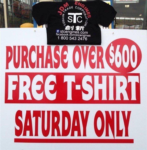 Free T-shirt gift